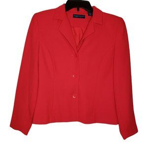 Karen Scott 3 Button Red Blazer